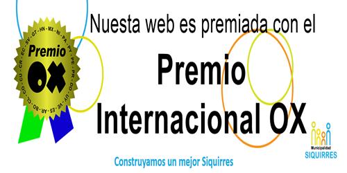 premio internacional OX mejores web