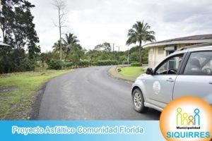 Proyecto Asfáltico Comunidad Florida 2