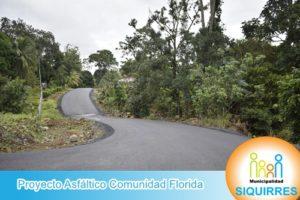 Proyecto Asfáltico Comunidad Florida 4