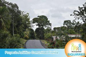Proyecto Asfáltico Comunidad Florida 5