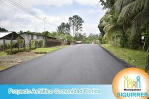 Proyecto Asfáltico Comunidad Florida 6