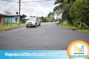 Proyecto Asfáltico Comunidad Florida 8