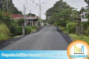 Proyecto Asfáltico Comunidad La Alegría 4