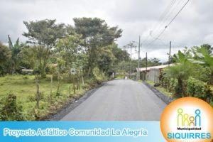 Proyecto Asfáltico Comunidad La Alegría 6