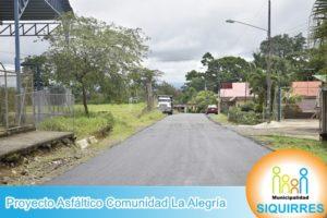 Proyecto Asfáltico Comunidad La Alegría 8