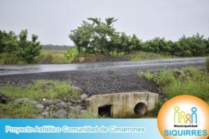Proyecto Asfáltico Comunidad de Cimarrones 1