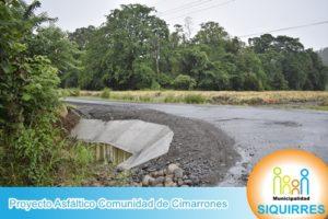Proyecto Asfáltico Comunidad de Cimarrones 3