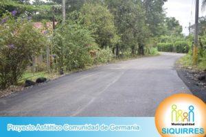 Proyecto Asfáltico Comunidad de Germania 1
