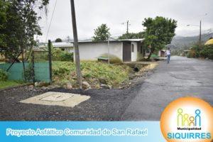 Proyecto Asfáltico Comunidad de San Rafael 1