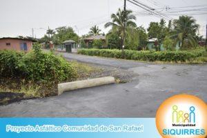 Proyecto Asfáltico Comunidad de San Rafael 2