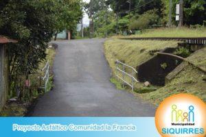 Proyecto Asfáltico Comunidad la Francia 1