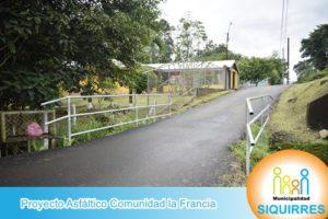 Proyecto Asfáltico Comunidad la Francia 2