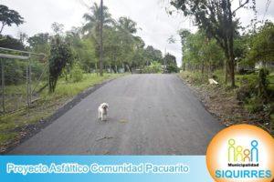 Proyecto Asfalto Comunidad Pacuarito 1