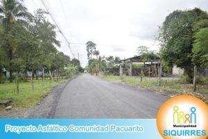 Proyecto Asfalto Comunidad Pacuarito 3