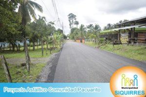 Proyecto Asfalto Comunidad Pacuarito 4