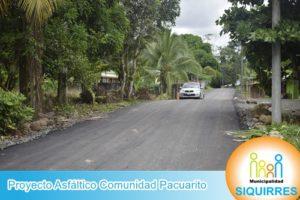 Proyecto Asfalto Comunidad Pacuarito 6