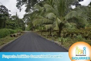 Proyecto Asfalto Comunidad Pacuarito 9