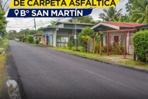 Asfaltado Barrio San Martin 1