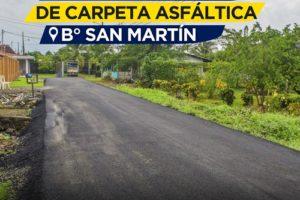 Asfaltado Barrio San Martin – Calle Florencio Castillo 1